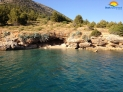 One of small hidden beaches on Island Brač